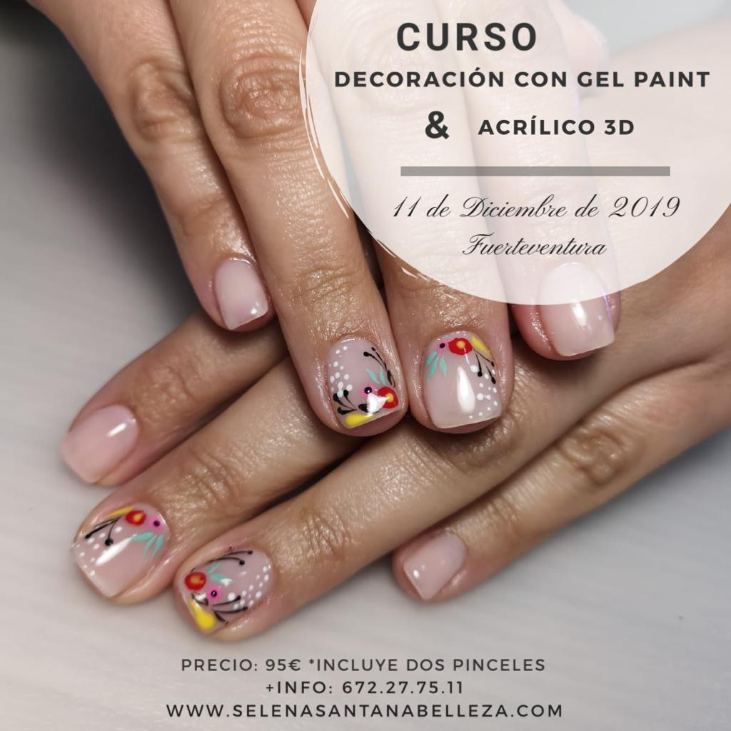 Curso decoración con gel paint & acrílico 3d